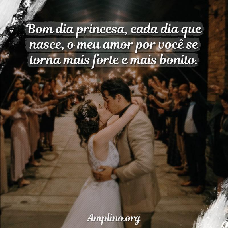 Bom dia princesa, cada dia que nasce, o meu amor por você se torna mais forte e mais bonito.